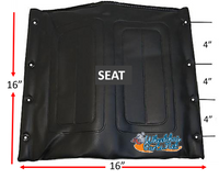 "16"" X 16"" Vinyl ""SEAT"". FOR DRIVE WHEELCHAIRS"