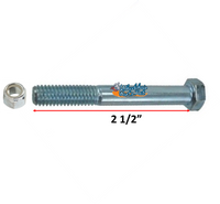 "AX1XX- 5/16"" Standard Axle with Nylock Nut. Choose your length"