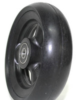 "CW042-B- 4"" X 1"" THREE SPOKE CASTER WHEEL WITH URETHANE ROUND TIRE SOLD AS PAIR"