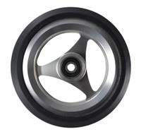 "CW051-B- 5X1"" ALUMINUM WHEEL W/ URETHANE PYRAMID TIRE SOLD AS PAIR"