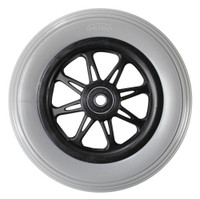 "CW106PB- 6 X 1-1/4"" JAZZY 6 SPOKE WHEEL W/ MOLDED ON TIRE - ONE PAIR"