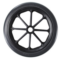 "CW131 - 8 x 1"" BLACK 8 SPOKE CASTER W/ 1 1/2"" HUB - ONE PAIR"