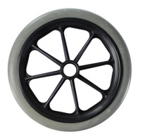 "CW134 - 8 x 1"" GREY 8 SPOKE WHEEL W/ 1 1/2"" HUB - ONE PAIR"