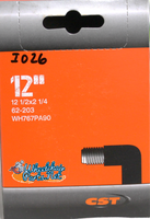 """I026P- 12 1/2 X 2 1/4""""  Standard Tube, 90 out valve. Sold as pair."""