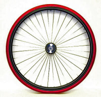 "RW2XX- 24"" (540) - 36 RADIAL SPOKE HIGH PERFORMANCE REAR WHEEL WITH 3"" FLANGED HUB. COMPLETE PAIR."