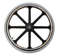 "24x1 3/8"" Mag Wheel with Recessed 2"" Hub Width for 7/16"" Axle."