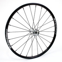 "24"" Spinergy SLX, 24 Spoke Rear Wheel With Chrome Hub & Black Spokes"