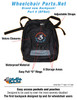 Brand new backpack description sheet with specifications.