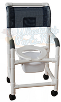 118-3-SQ-PAIL Shower Chair with Square Pail