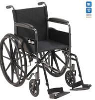 "Drive Silver Sport 1 Wheelchair - Single Axle 18"" Seat Width - FREE SHIPPING"