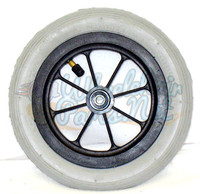 "CW172 8 x 1 1/4"" 8 SPOKE CASTER 1 1/2"" Hub Width Pneumatic Tire / Tub SOLD AS PAIR"