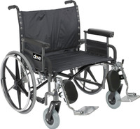 Drive Bariatric Deluxe Sentra Heavy-Duty, Extra-Extra-Wide Wheelchair Dual Axle FREE SHIPPING