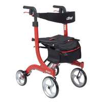"Drive Nitro Aluminum Rollator, TALL HEIGHT, 10"" Casters - FREE SHIPPING"