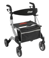 "Drive I-Walker Aluminum Rollator, 7"" Casters. Red and Silver Frame. FREE SHIPPING"