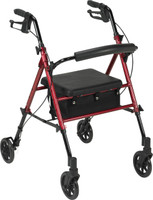 "Drive Aluminum Rollator, 6"" Casters Fold-up - FREE SHIPPING"