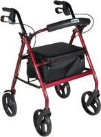 "Drive Aluminum Rollator, 7.5"" Casters Fold-Up - FREE SHIPPING"