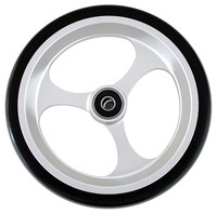 """CW508 6"""" X 1 1/2"""" Aluminum 3 Spoke Wheel / Soft Urethane Tire with 5/16"""" bearings. Sold as Pair"""