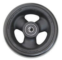 """RW514 4"""" X 1 1/2"""" Composite Wheel and Soft Urethane Tire with 5/16"""" bearings. Sold as Pair"""