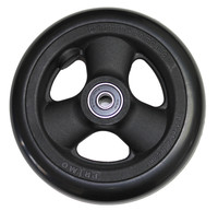 """RW515 5"""" X 1"""" Composite Wheel and Soft Urethane Tire with 5/16"""" bearings. Sold as Pair"""