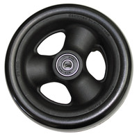 "RW516 5"" X 1 1/2"" Composite Wheel and Soft Urethane Tire with 5/16"" bearings. Sold as Pair"