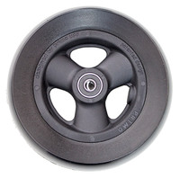 "RW518 6"" X 1 1/2"" Composite Wheel and Soft Urethane Tire with 5/16"" bearings. Sold as Pair"