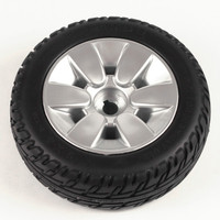 "9"" Black Flat-Free Drive Wheel Assembly for Jazzy Select Elite. Sold as Each"