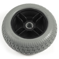 "7.5"" Gray Flat-Free Drive Wheel Assembly for Go Chair & Z Chair. Sold as Each"