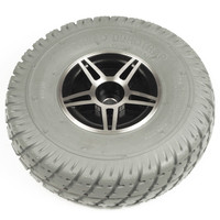 "10"" Gray Flat-Free Drive Wheel Assembly for Jet 3 & Jet 7. Sold as each"