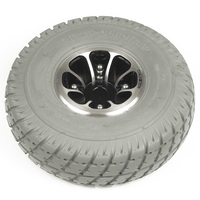 "10"" Gray Flat-Free Drive Wheel Assembly for Jazzy 610, 1103, 1113. Sold as Each"