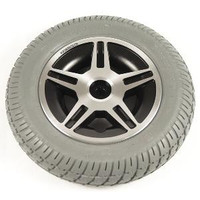 """14"""" Gray Flat-Free Drive Wheel Assembly for Jazzy Select 14 & Select 14XL Power Chairs. Sold as Each"""
