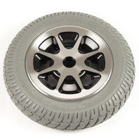 "14"" Gray Flat-Free Drive Wheel Assembly for Jazzy 1121. Sold as Each"