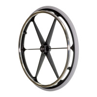 "24""x1-3/8"" Rear Wheel for the Drive Deluxe Sentra Heavy Duty Extra Extra Wide Bariatric Wheelchair. Sold as Each"