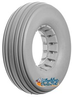 "AL194 8 x 2 1/4"" Light Gray RIB TIRE For Two-Piece Wheel. Sold as Pairs"