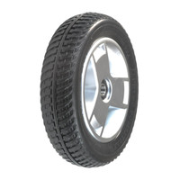 """Pride 8""""x2"""" (200x50) Black Flat-Free 3 Spoke Front Wheel Assembly for the Go-Go Elite Traveller Plus (SC54) 4-Wheel Mobility Scooter. Sold as Each"""