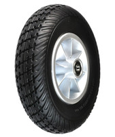 """Pride 8""""x2"""" (200x50) Black Flat-Free Front Wheel Assembly For The Go-Go 3-Wheel Mobility Scooters. Sold as Each"""