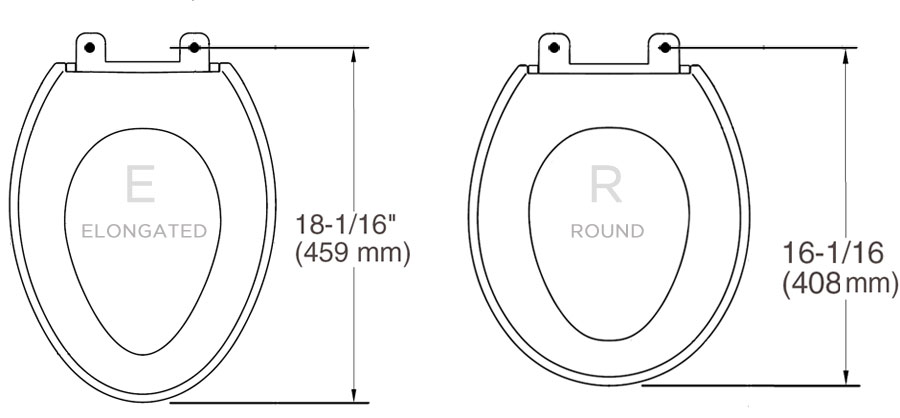 Bio Bidet BB-600 Toilet Seat Measurement