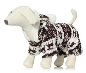 Brown Winter Fleece Dog Onesie