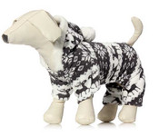 Grey Winter Fleece Dog Onesie