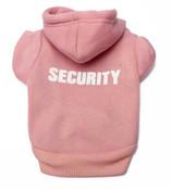 Pink Security Dog Hoodie