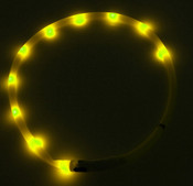 Yellow USB Rechargeable LED Dog Collar