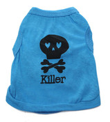 Blue Killer Skull Dog Vest