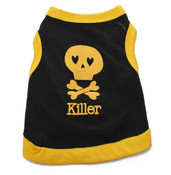 Black and Yellow Killer Skull Dog Vest
