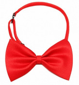 Dark Red Shiny Dog Bow Tie