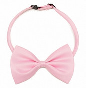 Light Pink Shiny Dog Bow Tie