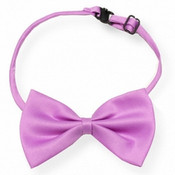 Light Purple Shiny Dog Bow Tie