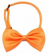 Orange Shiny Dog Bow Tie