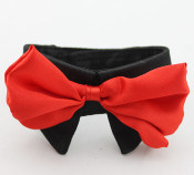 Black Bow Tie Dog Collar