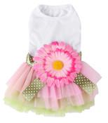 Giant Pink Flower Dog Dress