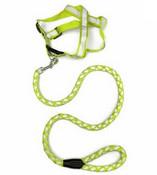 Green Reflective Dog Harness & Lead Set