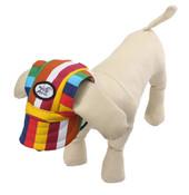 Stripe Visor Dog Baseball Cap